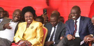 Deputy President William Ruto and Bomet Governor Joyce Laboso Kenya