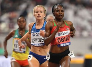 Hellen Obiri wins in Doha