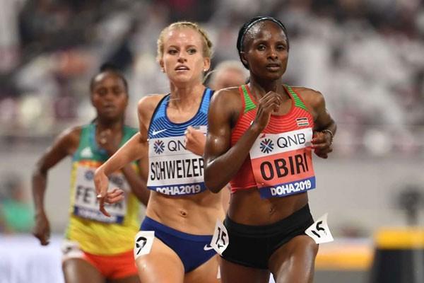 Hellen Obiri wins in Doha