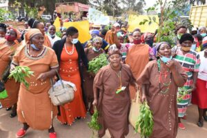 Muranga women peaceful demontration with Sabina Chege.