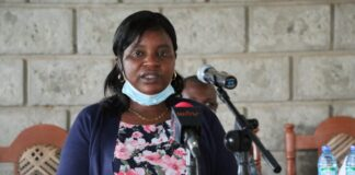 Former elected MCA for Kiagu Ward, Eunice Karegi